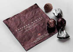 کارت ویزیت خلاقانه بصورت پوست شکلات
