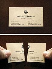 کارت ویزیت خلاقانه برای وکالت طلاق